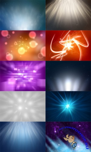 10 Abstract Light Backgrounds PSD