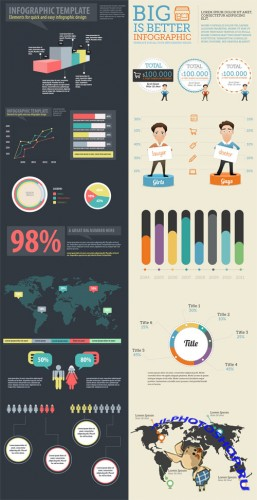 Infographic Elements PSD Templates