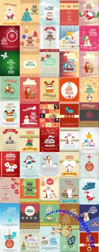 50 Christmas Illustrations Vector Set 1