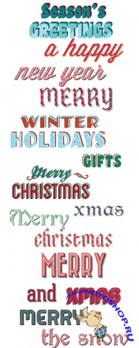 X-Mas Vector Graphic Text Styles