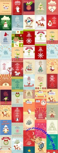 50 Christmas Illustrations Vector Set 2
