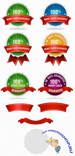 Gurantee Badges PSD Templates