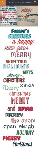 Christmas Graphic Styles Set - Winter Elements
