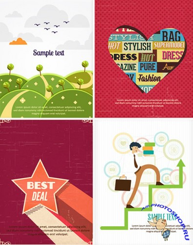 4 Complete Vector Illustrations Pack