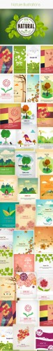 50 Nature Vector Illustrations