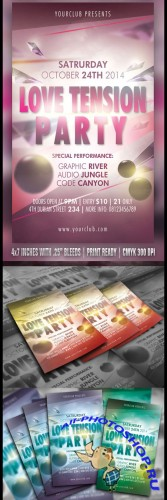 Love Tension Party Flyer Template