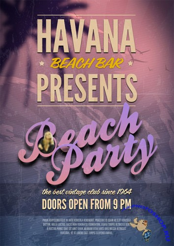 Beach Party Flyer/Poster PSD Template