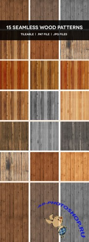 15 Seamless Wood Photoshop Patterns