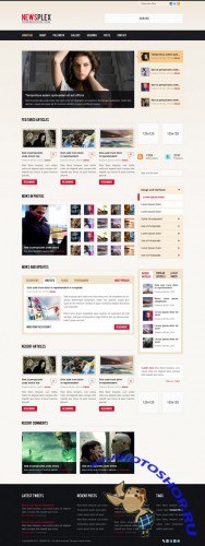 Newsplex Web Site Template