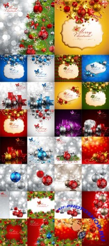 30 Christmas Cards Vector Set