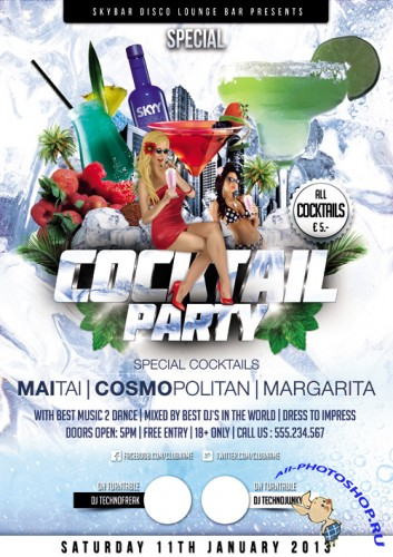 Coctail Party Flyer Template