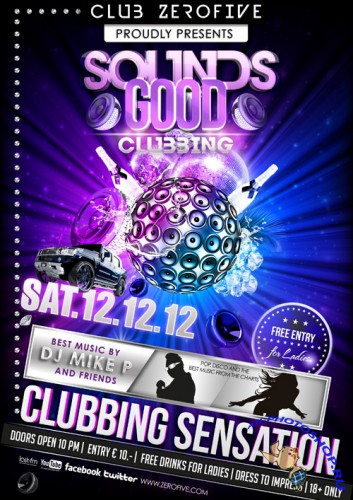 Sounds Good Clubbing Flyer Template