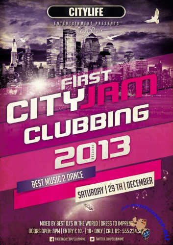 First Cityjam Clubbing Flyer Template