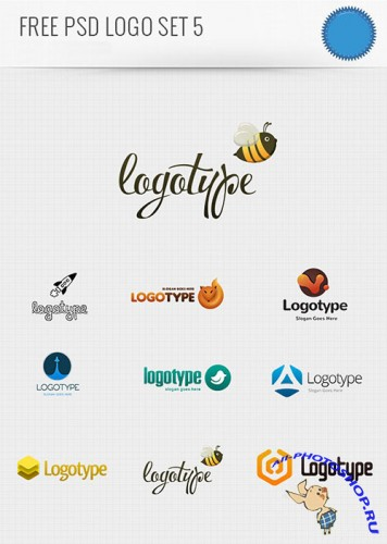 PSD Logo Design Templates Pack 5