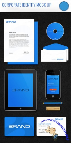Corporate Identity PSD Mockup Template