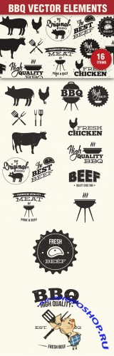 Designtnt - BBQ Grill Vector Elements