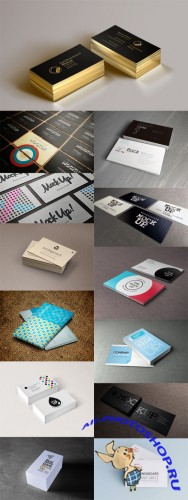 13 Business Card Mock-up Templates