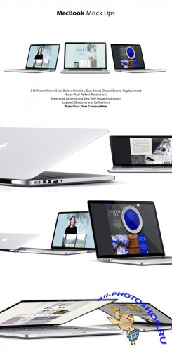 MacBook Mock-Ups Templates