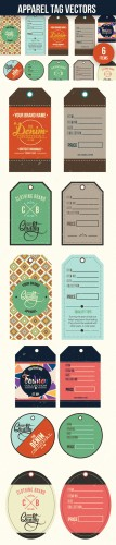 Designtnt - Apparel Tags Vector Set 1