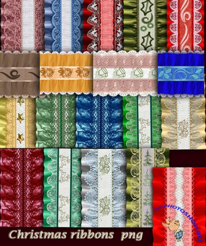 Christmas Ribbons PNG Clipart