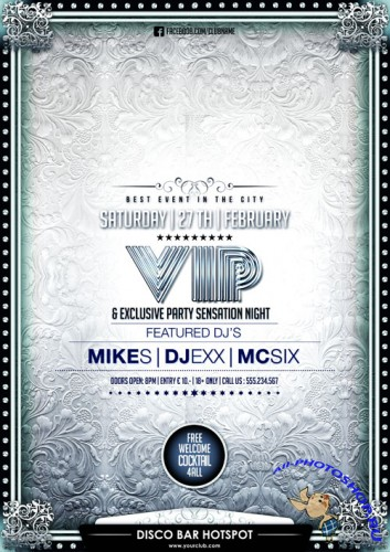 Vip Exlusive Party Sensation Flyer Template