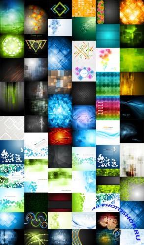 72 Light Abstract Vector Backgrounds Pack
