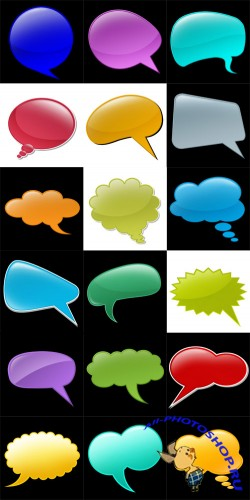 Talk Bubbles Set PSD