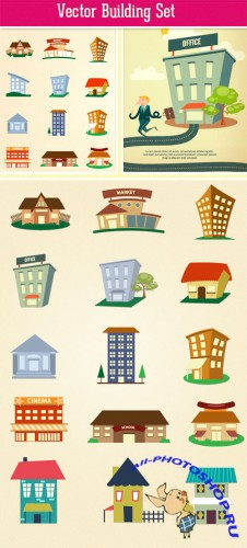 Designtnt - Buildings Vector Set 2