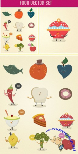 Designtnt - Food Vector Set 2