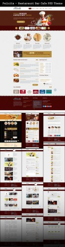Restaraunt Bar Cafe PSD Theme - Felicita