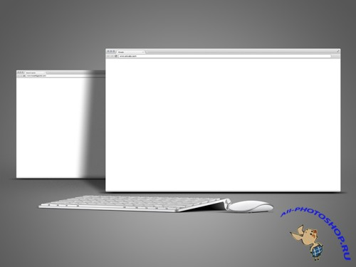 Browser Mock-Up Template PSD