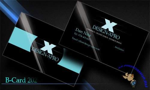 Blue Business Card PSD Template