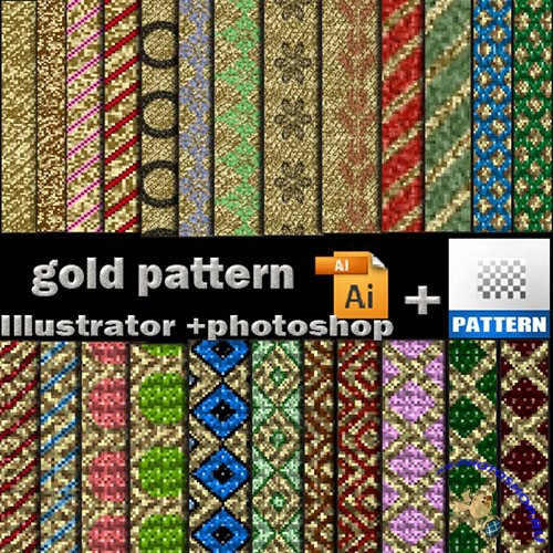 Gold Patterns for Photoshop and Illustrator