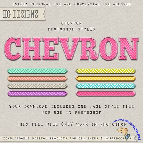 Chevron Photoshop ASL Styles