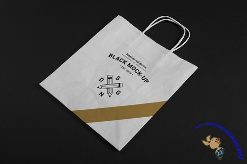 Paper Bag Mock Up V2 PSD