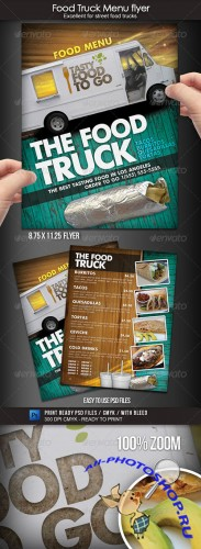 GraphicRiver - Food Truck Menu Flyer 1700119