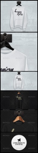 GraphicRiver - Black White Sweatshirt Mockup 5546600