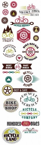 Bicycle Shop Vector Set