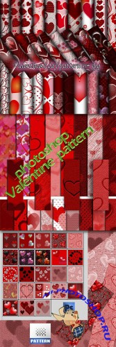 Colored Valentine's Day Photoshop Patterns