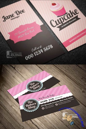 2 Bakery Business Card Templates PSD
