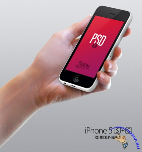iPhone Mockup Hand V2 PSD