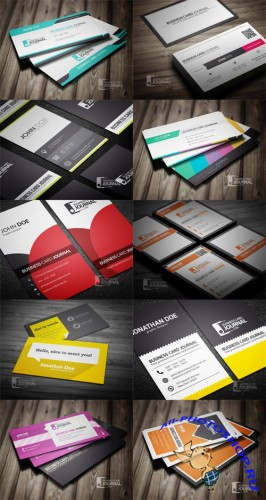 10 Creative Business Cards Collection PSD