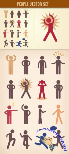 DesignTNT - People Vector Set 2