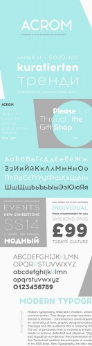 Acrom Family Font - The Northern Block