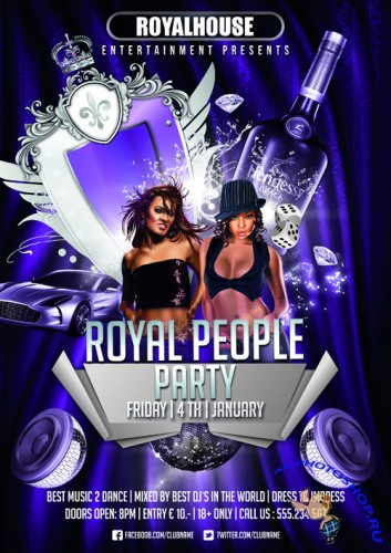 Royal People Party Flyer Template PSD