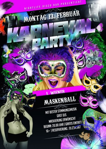 Carnival Party Flyer Template PSD