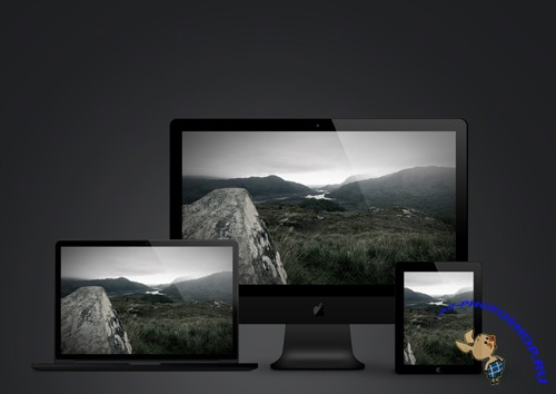 Shadow Series Apple iDevices Template PSD