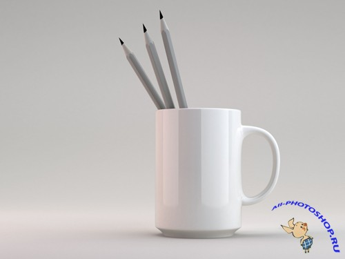 Mug with Pencils Mock up