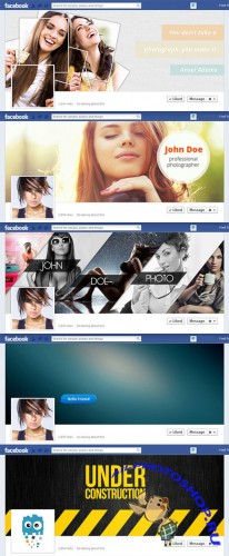 5 Premium Facebook Cover Photos PSD Template
