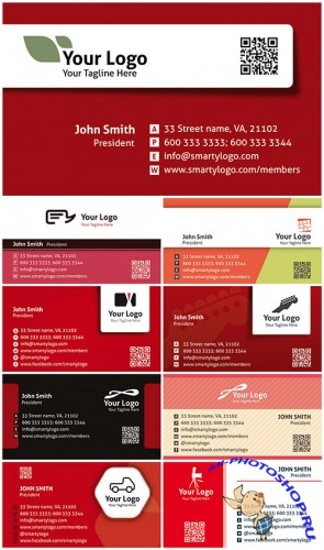 Colored Premium Business Cards PSD Templates Vol.3
